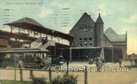 dep001588 - Union Station, Hartford, CT, Connecticut, USA Train Railroad Station Depot Post Card Post Card