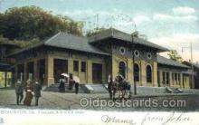 dep001589 - Chesapeake and Ohio, RR Depot, Staunton, VA, Virginia, USA Train Railroad Station Depot Post Card Post Card