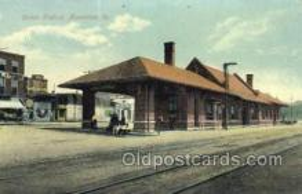 dep001596 - Union Station, Muscatine, IA, Iowa, USA Train Railroad Station Depot Post Card Post Card