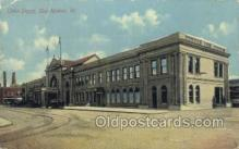 dep001599 - Union Depot, Des Moines, IA, Iowa, USA  Train Railroad Station Depot Post Card Post Card