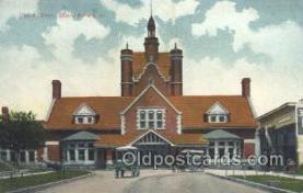 dep001600 - Union Depot, Cedar Rapids, IA Iowa, USA Train Railroad Station Depot Post Card Post Card