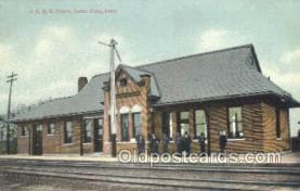 dep001601 - ICRR Depot, Cedar Falls, IA ,Iowa, USA Train Railroad Station Depot Post Card Post Card