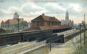 dep001602 - ICRR Depot, Cedar Falls, IA ,Iowa, USA Train Railroad Station Depot Post Card Post Card