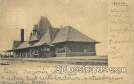 dep001606 - Union Depot, Keokuk, IA, Iowa, USA Train Railroad Station Depot Post Card Post Card