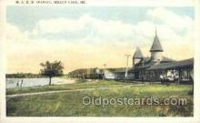 dep001614 - MCRR Station, Sebago Lake, ME, Maine, USA Train Railroad Station Depot Post Card Post Card