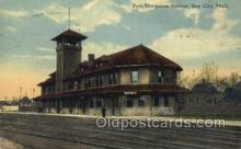dep001618 - Pere Marquette Station, Bay City, Mi, Michigan, USA Train Railroad Station Depot Post Card Post Card