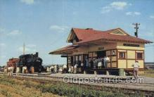 dep001625 - RR Depot, Strasburg, Penna Train Railroad Station Depot Post Card Post Card