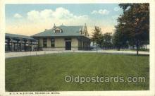 dep001626 - MCRR Station, Brunswick, ME ,Maine, USA Train Railroad Station Depot Post Card Post Card