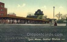 dep001645 - Central Station, Lynn, MA ,Massachusetts, USA Train Railroad Station Depot Post Card Post Card