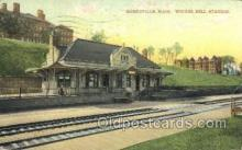 dep001647 - Winter Hill Station, Somerville, MA ,Massachusetts, USA Train Railroad Station Depot Post Card Post Card