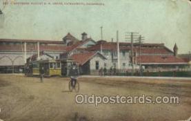dep001658 - Southern Pacific Station, Sacramento, Ca, California, USA Train Railroad Station Depot Post Card Post Card
