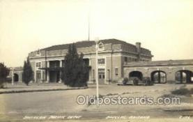 dep001661 - Real Photo - Southern Pacific Depot, Douglas, AZ, Arizona, USA Train Railroad Station Depot Post Card Post Card