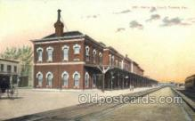 dep001670 - Santa Fe Depot, Topeka, KS, Kansas, USA Train Railroad Station Depot Post Card Post Card