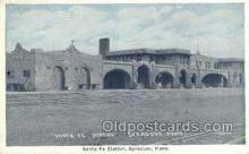 dep001674 - Santa Fe Station, Syracuse, KS, Kansas, USA Train Railroad Station Depot Post Card Post Card