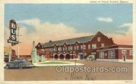 dep001675 - Santa Fe Depot, Newton, KS,Kansas, USA Train Railroad Station Depot Post Card Post Card