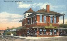 dep001676 - Missouri Pacific Depot, Fort Scott, KS, Kansas, USA Train Railroad Station Depot Post Card Post Card