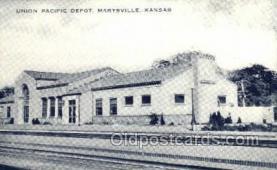 dep001677 - Union Pacific, Maryville, KS, Kansas, USA Train Railroad Station Depot Post Card Post Card