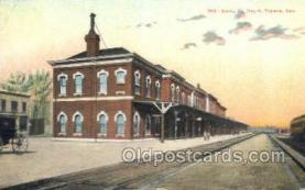 dep001687 - Santa Fe Depot, Topeka, KS ,Kansas, USA Train Railroad Station Depot Post Card Post Card