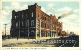dep001688 - Santa Fe Station, Newton, KS, Kansas, USA Train Railroad Station Depot Post Card Post Card