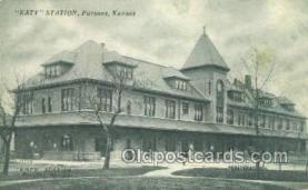 dep001690 - Katy Station, Parsons, KS ,Kansas, USA Train Railroad Station Depot Post Card Post Card