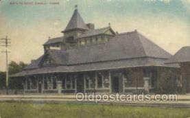 dep001693 - Santa Fe Depot, Kingsley, KS, Kansas, USA Train Railroad Station Depot Post Card Post Card