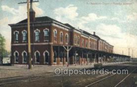 dep001694 - Santa FE Depot , Topeka, KS, Kansas, USA Train Railroad Station Depot Post Card Post Card