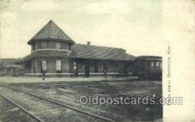 dep001697 - Frisco Depot, Cherryvale, KS, Kansas, USA Train Railroad Station Depot Post Card Post Card