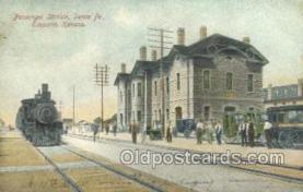 dep001699 - Passenger Station. Emporia, KS, Kansas, USA Train Railroad Station Depot Post Card Post Card