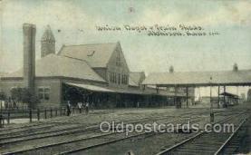 dep001700 - Union Depot, Atchison, KS, Kansas, USA Train Railroad Station Depot Post Card Post Card