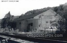 dep001707 - C and O Depot, Jenkins, Ky, Kentucky, USA Kodak Real Photo Paper Train Railroad Station Depot Post Card Post Card