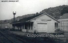 dep001715 - C and O Depot, Jenkins, Ky, Kentucky, USA Kodak Real Photo Paper Train Railroad Station Depot Post Card Post Card
