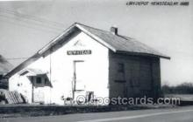 dep001758 - L and N Depot, New stead, Ky, Kentucky, USA Kodak Real Photo Paper Train Railroad Station Depot Post Card Post Card