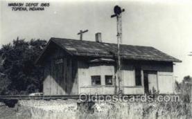 dep001782 - Wabash Depot, Topeka, KS, Kansas, USA Kodak Real Photo Paper Train Railroad Station Depot Post Card Post Card