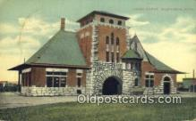 dep001836 - Union Depot, Muskegon, MI, Michigan, USA Depot Postcard, Railroad Post Card