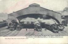 dep001840 - Union Depot Train Shed, Grand Rapids, MI, Michigan, USA Depot Postcard, Railroad Post Card
