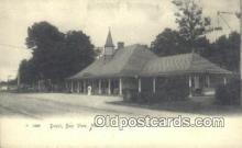 dep001843 - Depot, Bay View, MI, Michigan, USA Depot Postcard, Railroad Post Card