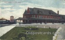 dep001844 - Union Depot, Durand, MI, Michigan, USA Depot Postcard, Railroad Post Card