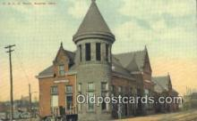 dep001848 - T & OC Depot, Bueyrus, OH, Ohio, USA Depot Postcard, Railroad Post Card