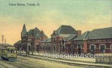 dep001849 - Union Station, Toledo, OH, Ohio, USA Depot Postcard, Railroad Post Card