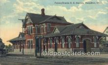 dep001850 - Pennsylvania RR Station, Hamilton, OH, Ohio, USA Depot Postcard, Railroad Post Card