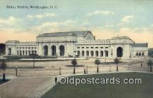 dep001857 - Union Station, Washington DC, District of Columbia, USA Depot Postcard, Railroad Post Card
