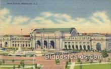dep001858 - Union Station, Washington DC, District of Columbia, USA Depot Postcard, Railroad Post Card