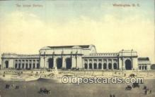 dep001865 - Union Station, Washington DC, District of Columbia, USA Depot Postcard, Railroad Post Card