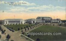 dep001867 - Union Station, Washington DC, District of Columbia, USA Depot Postcard, Railroad Post Card