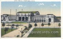 dep001873 - Union Station, Washington DC, District of Columbia, USA Depot Postcard, Railroad Post Card