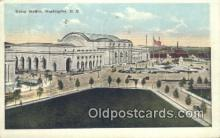 dep001874 - Union Station, Washington DC, District of Columbia, USA Depot Postcard, Railroad Post Card