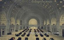 dep001875 - Union Station, Washington DC, District of Columbia, USA Depot Postcard, Railroad Post Card