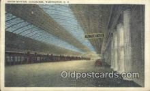 dep001876 - Union Station, Washington DC, District of Columbia, USA Depot Postcard, Railroad Post Card