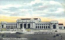 dep001878 - New Union Station, Washington DC, District of Columbia, USA Depot Postcard, Railroad Post Card