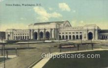 dep001879 - Union Station, Washington DC, District of Columbia, USA Depot Postcard, Railroad Post Card